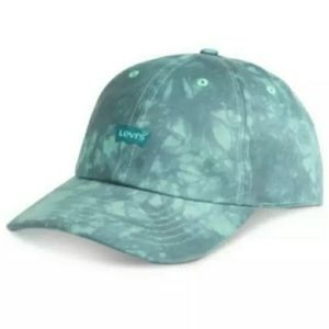 NWT Levi's Tie dye logo snapback teal cap.
